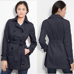 TAHARI Navy Double Breasted Trench Coat 🧥 size S